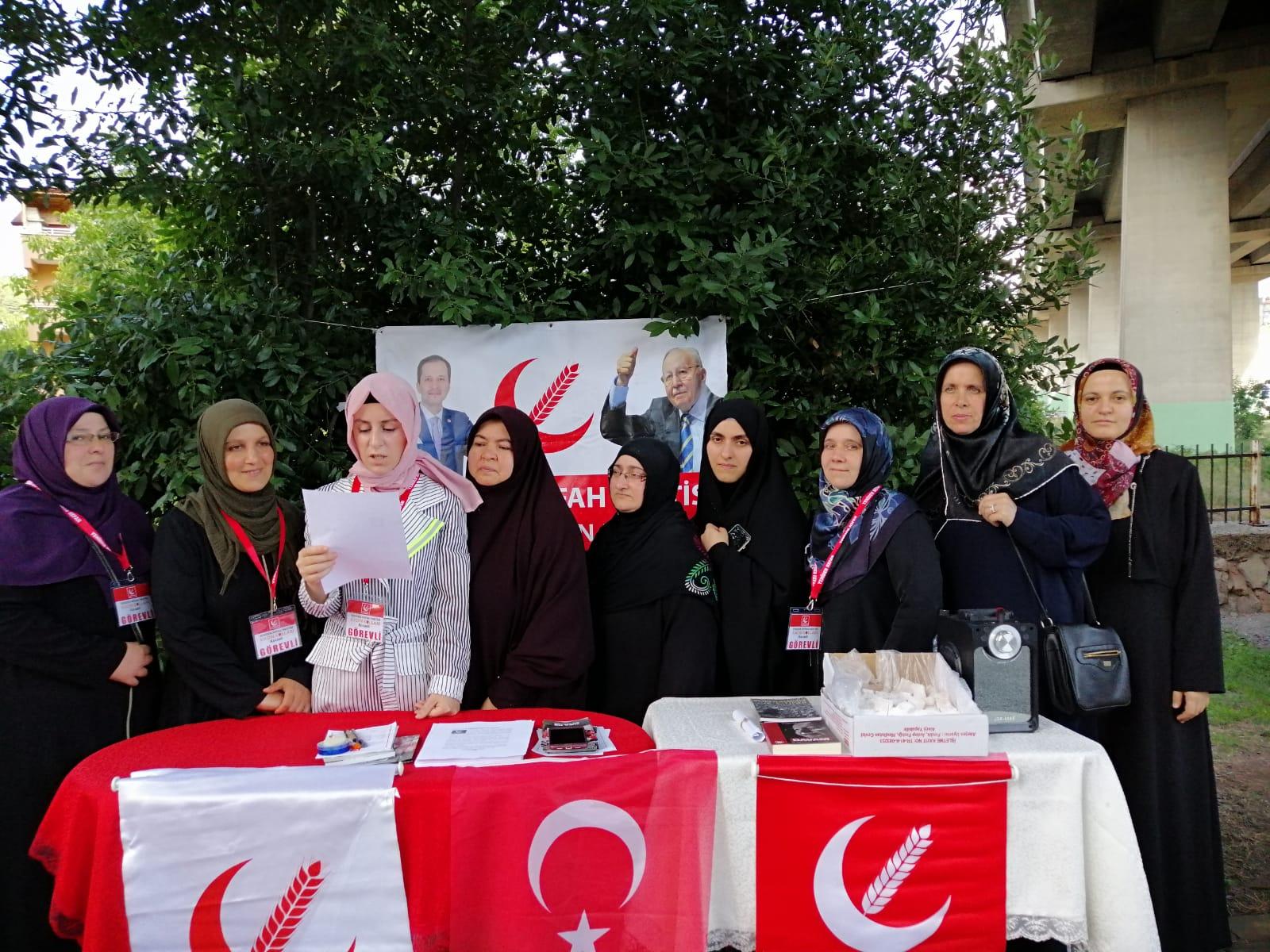 Yeniden Refah Partisi Derince kadın kolları Basın Açıklaması