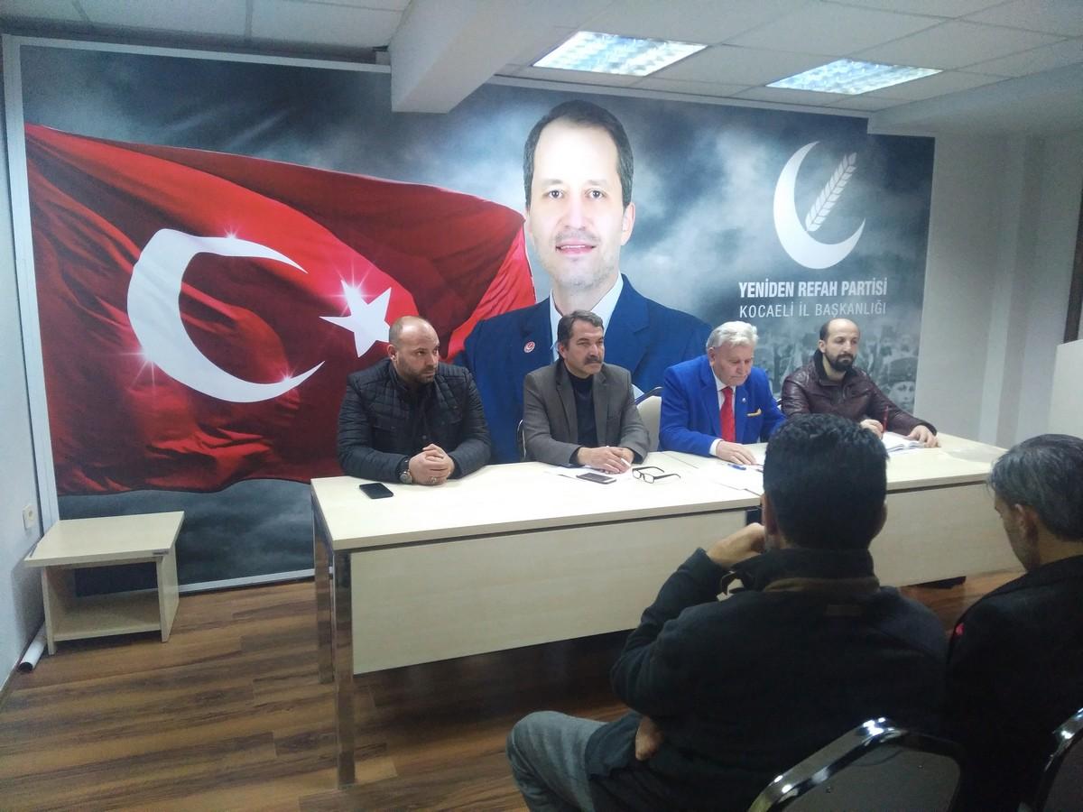 Yeniden Refah Partisi Kocaeli Yönetiminden Basın Açıklaması