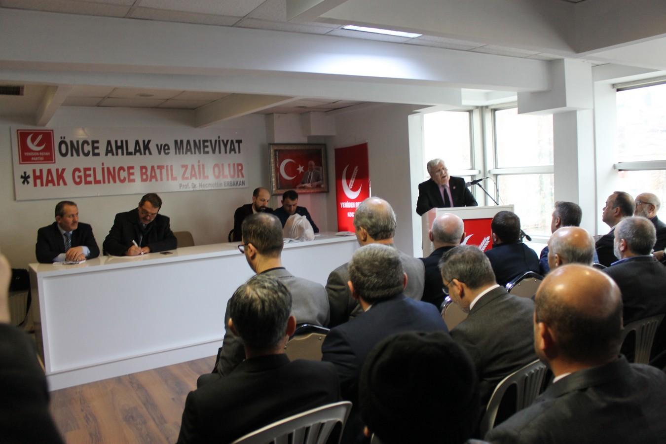 Yeniden Refah Partisi Milli Görüş Konferans Salonunu Hizmete Açtı..