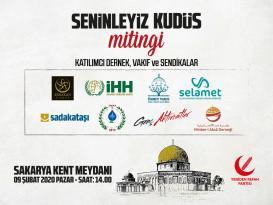 Yeniden Refah Partisi Kudüs için seferber oldu..