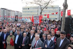 Şehitler Yürüyüşüne Yeniden Refah Partisi Büyük Destek Verdi.