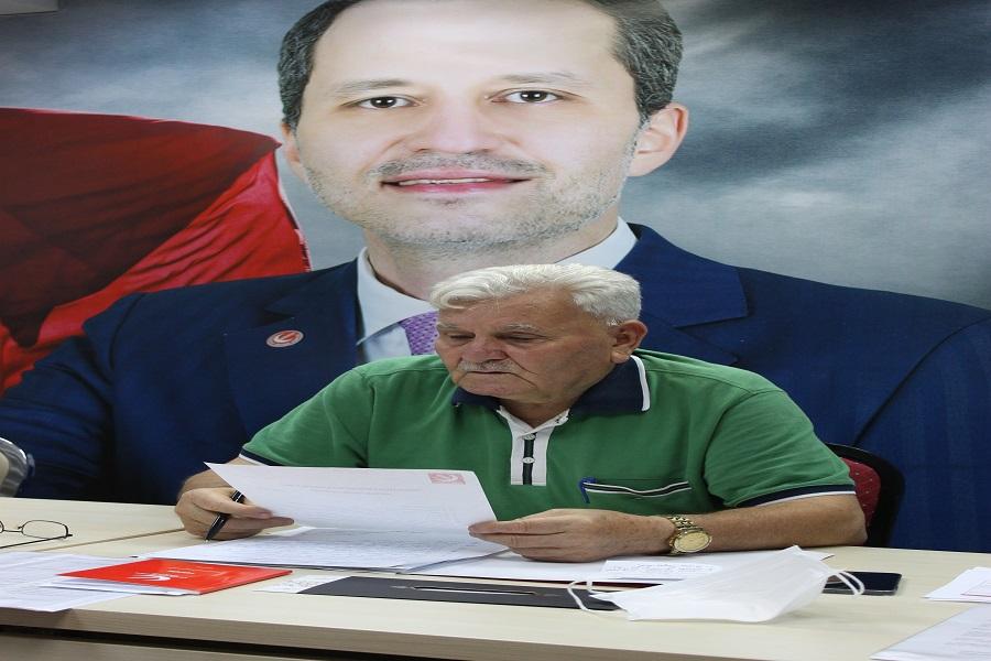 Yeniden Refah Partisi İl Başkanı Mehmet Aras Beyin Basın Açıklaması