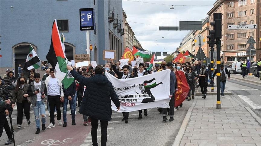 İsrail'in Mescid-i Aksa'ya ve Filistinlilere yönelik saldırıları protesto edildi