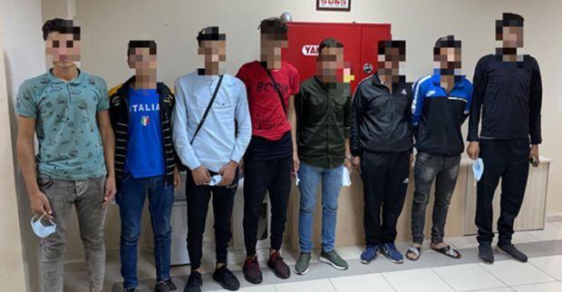 Durdurulan araçta 7 düzensiz göçmen yakalandı