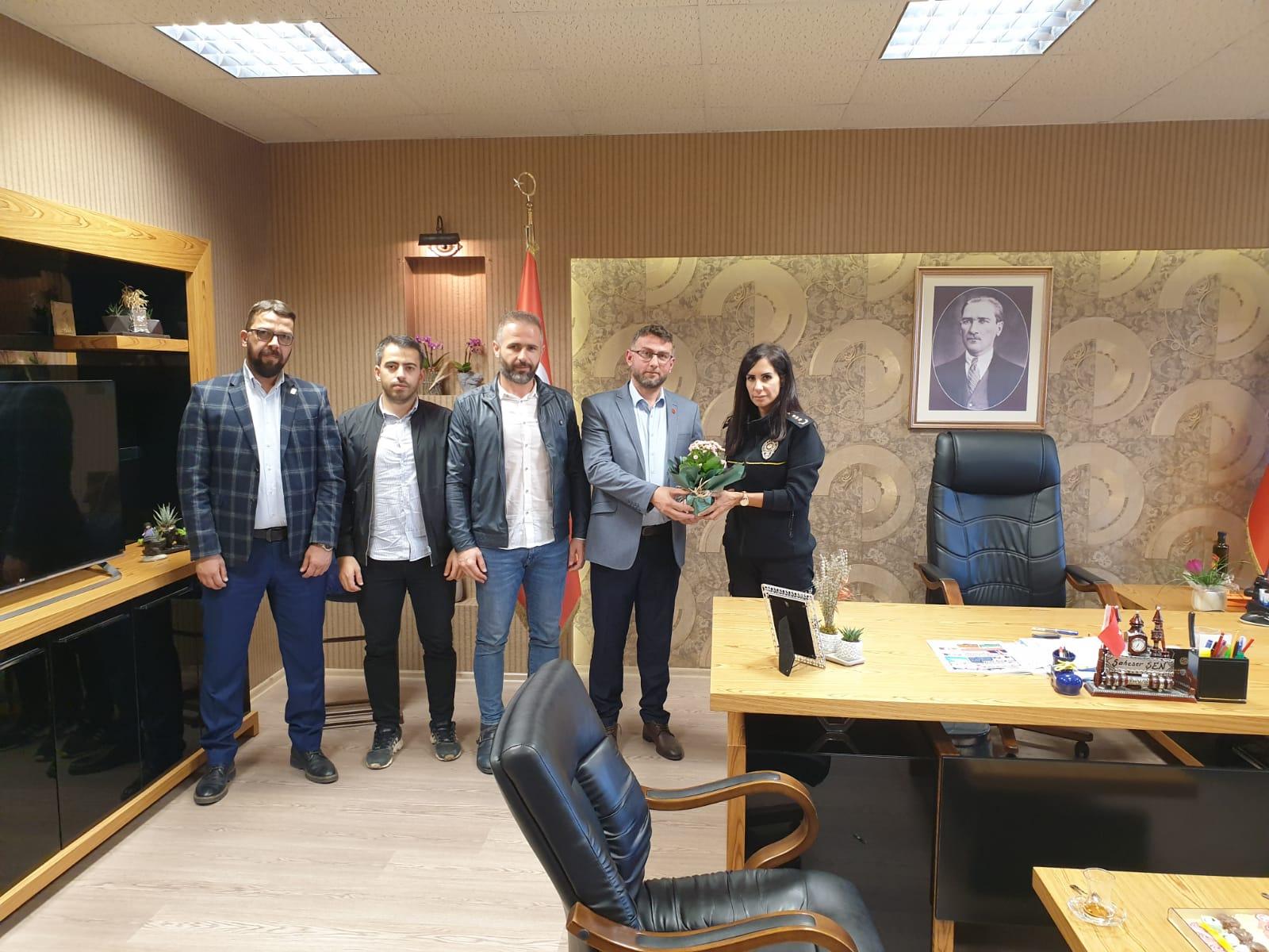 Yeniden Refah Partisinden İlçe Emniyet Müdürlüğü Ziyareti